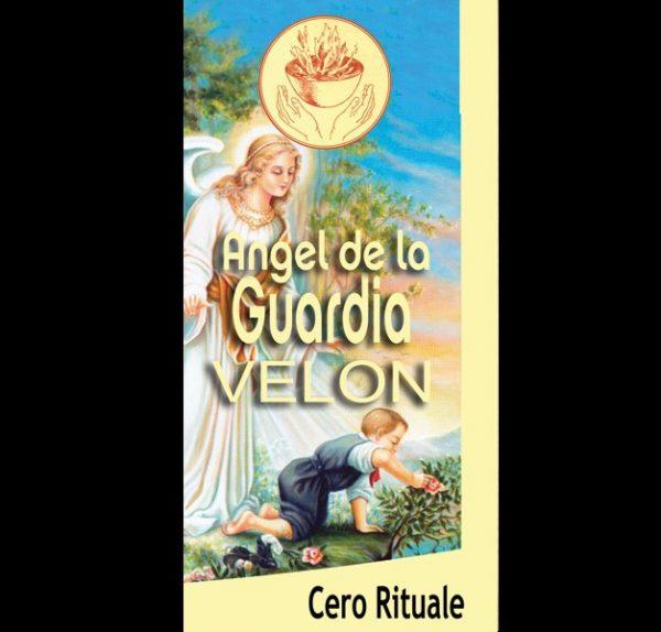 CANDELA RITUALIZZATA DELL'ANGELO CUSTODE - ANJO DA GUARDIA - MISURA CM 18.5 X 5.5