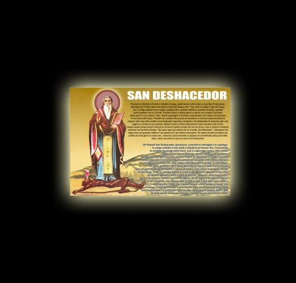 ORAZIONE A SAN DESHACEDOR - PERGAMENA