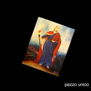 SANTA MARTA CATTOLICA - DIPINTO A MANO SU TELA (OLIO) CM 41 X 31- SANTO DOMINGO