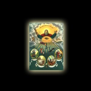 ONNIPRESENZA DI DIO - STAMPA SUBLIMATICA SU ALLUMINIO CM 20 X 15