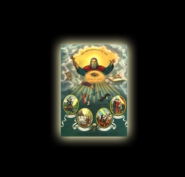 ONNIPRESENZA DI DIO – STAMPA SUBLIMATICA SU ALLUMINIO Cm 30 X 20