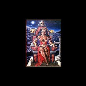 POMBA GIRA RAINHA - STAMPA SUBLIMATICA SU ALLUMINIO CM 20 X 15