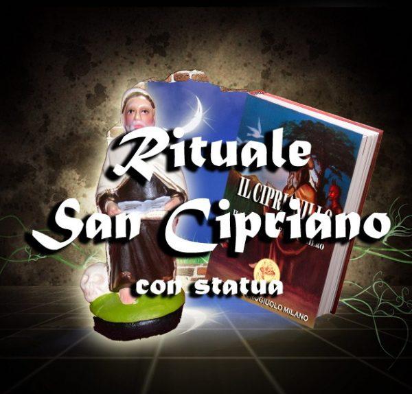 RITUALE SAN CIPRIANO + STATUA IN TERRACOTTA + LIBRO