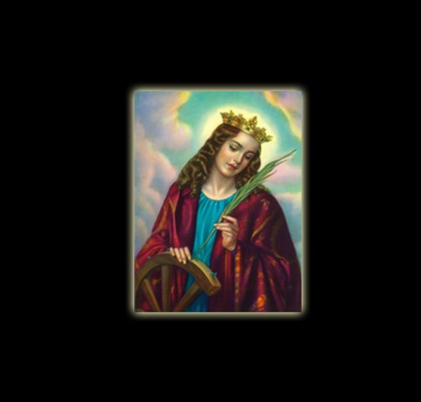 SANTA CATERINA D'ALESSANDRIA - STAMPA SUBLIMATICA SU ALLUMINIO CM 20 X 15
