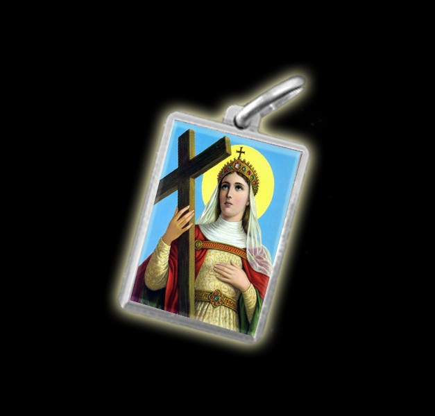 MEDAGLIA – IMMAGINE A COLORI SANT'ELENA – ARGENTO 925