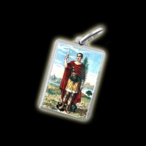 Medaglia - Immagine a colori SANT'ESPEDITO - argento 925