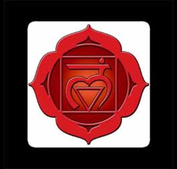 PRIMO CHAKRA – Muladhara Chakra – Stampato su masonite – 10 x 10 cm