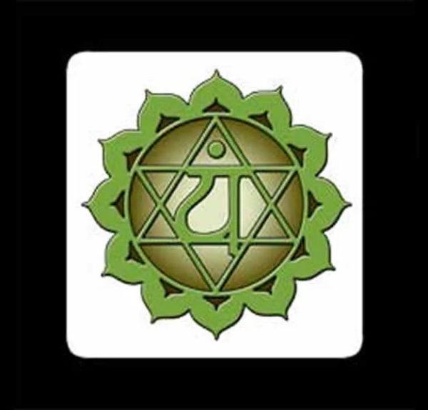 QUARTO CHAKRA – Anahata Chakra – Stampa su masonite – 10 x 10 cm