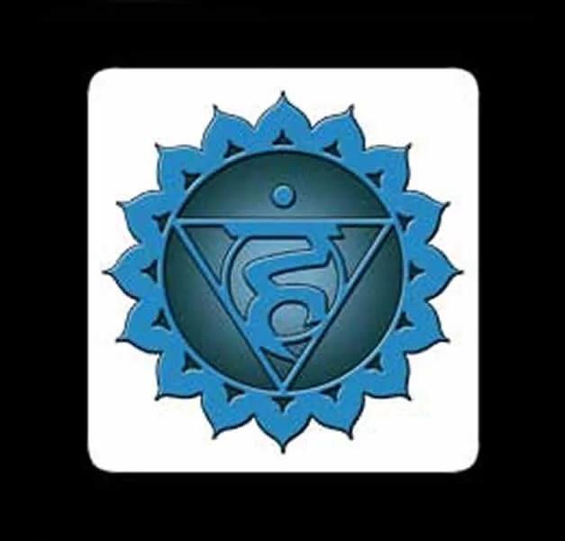 QUINTO CHAKRA – Vishuddaha Chakra – Stampa su masonite – 10 x 10 cm